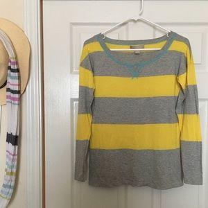 Banana Republic X-Small Yellow and Gray Sweater